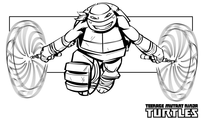 Ralph Ninja Turtle Coloring Page With Images Ninja Turtle
