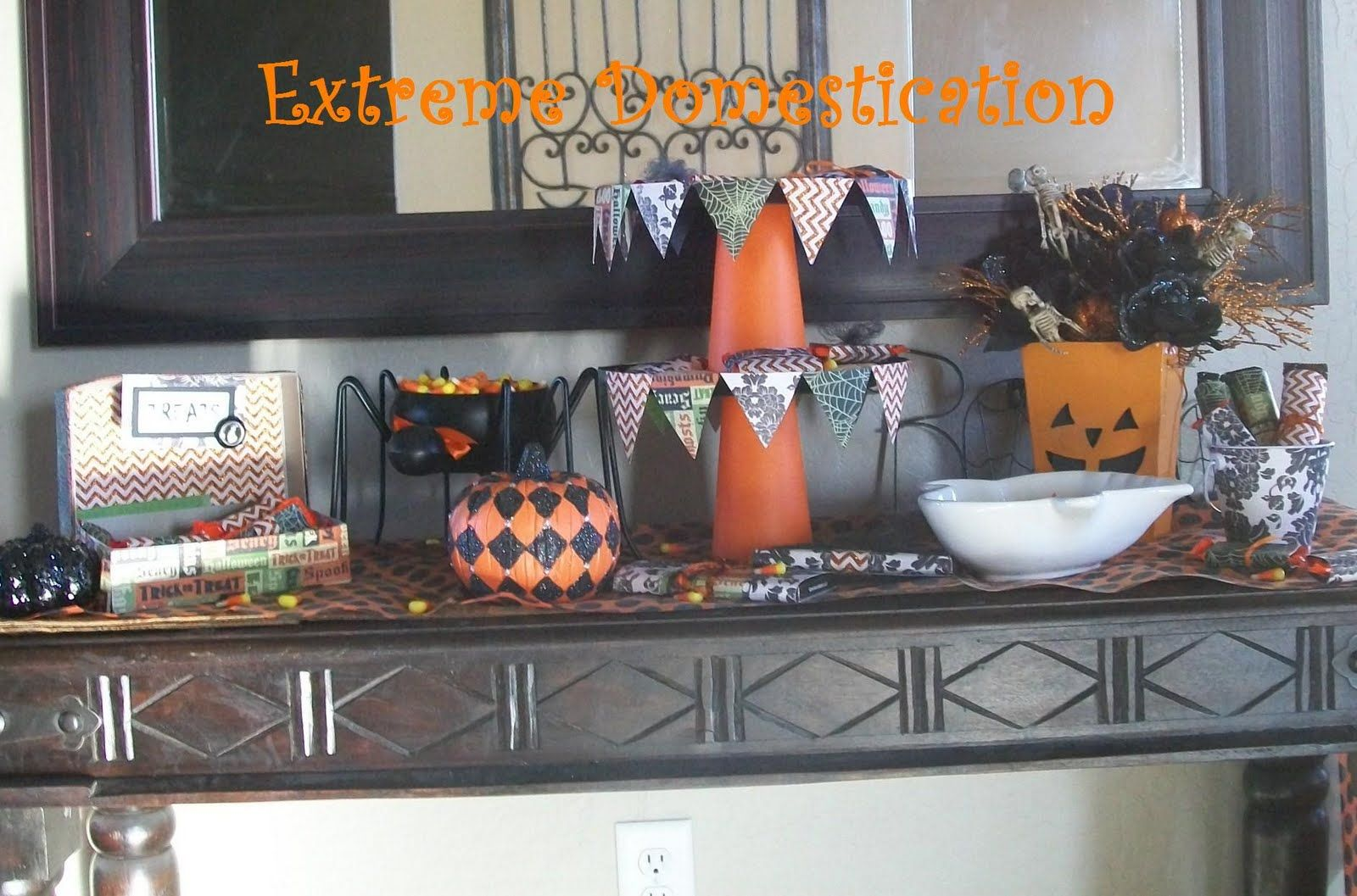 Scrapbook paper display - Halloween Display Tables This Is A Gift Box Wrapped In Scrapbook Paper And Filled With