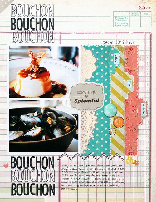 Restaurant scrapbooking layout quot bouchon bisto food