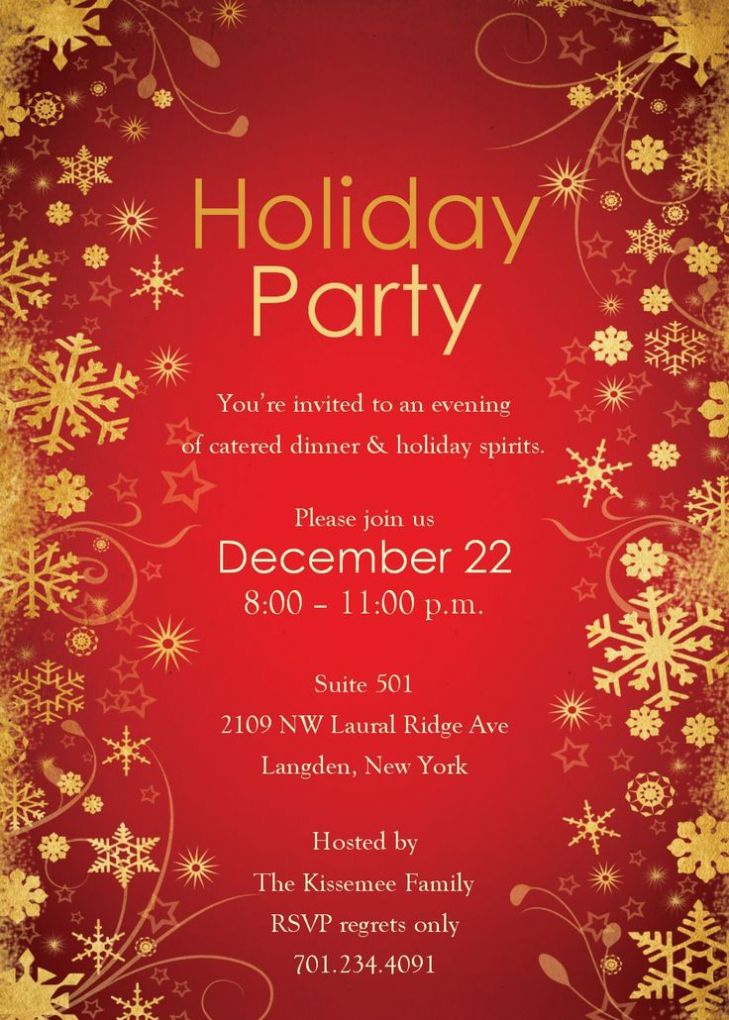 Holiday Party Invitation Template to inspire you in making awesome ...