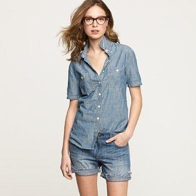 d8c8e34347 Women's shirts & tops - casual shirts - Short-sleeve selvedge ...