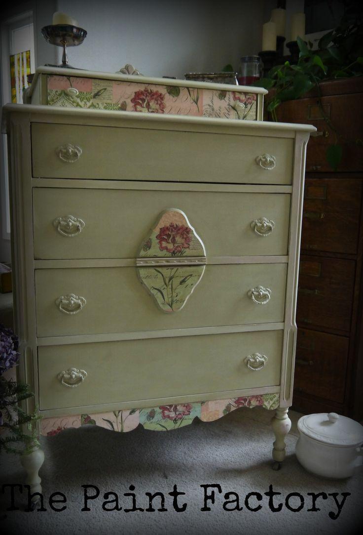 floral decoupage furniture. Versailles+chalk+painted+furniture | Versailles Chalk Paint, Decoupage Floral Detail. Furniture
