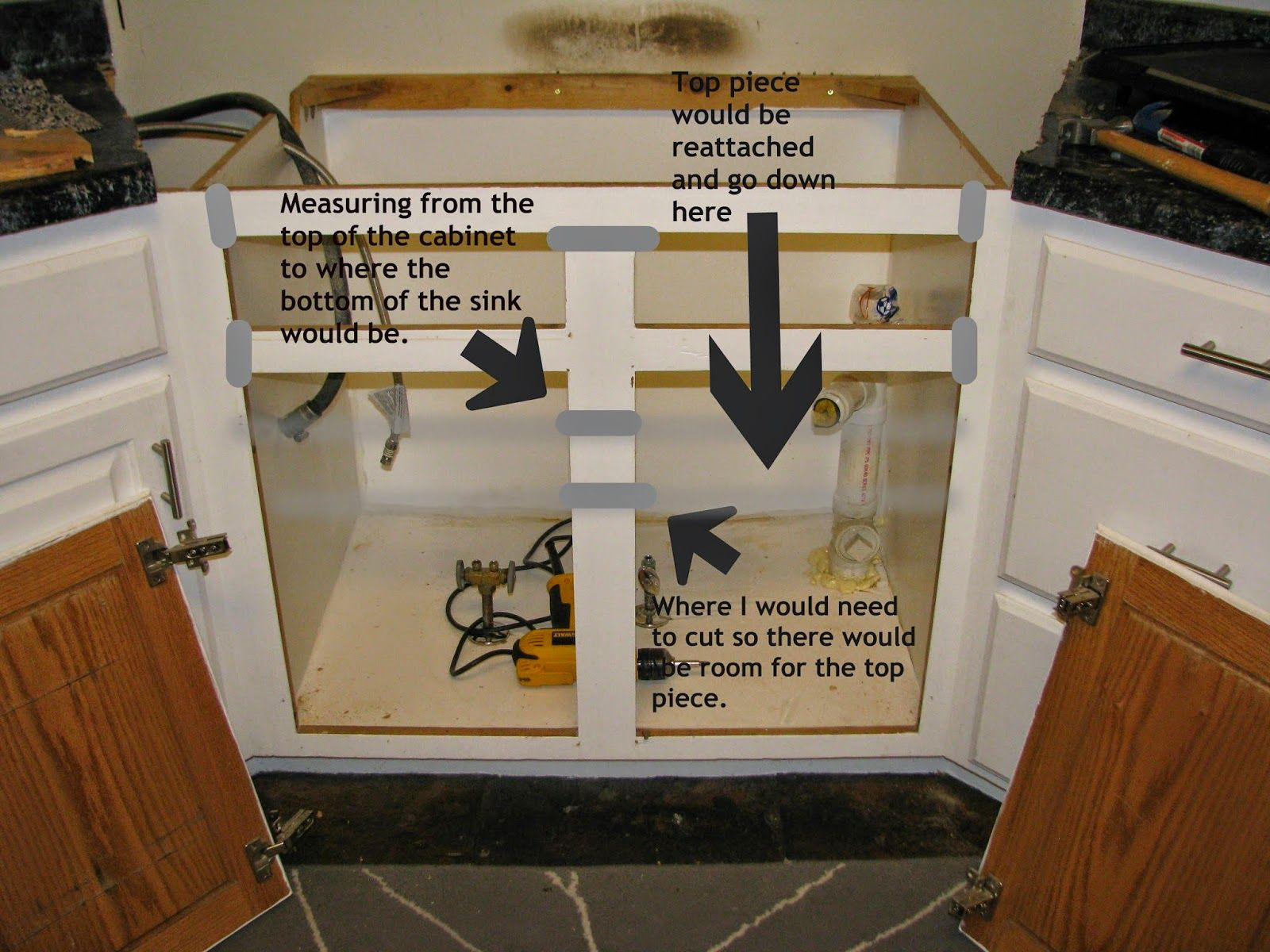 Resize Your Existing Cabinet And Doors To Fit An Apron Front Sink Apron Front Sink Sink Kitchen Remodel