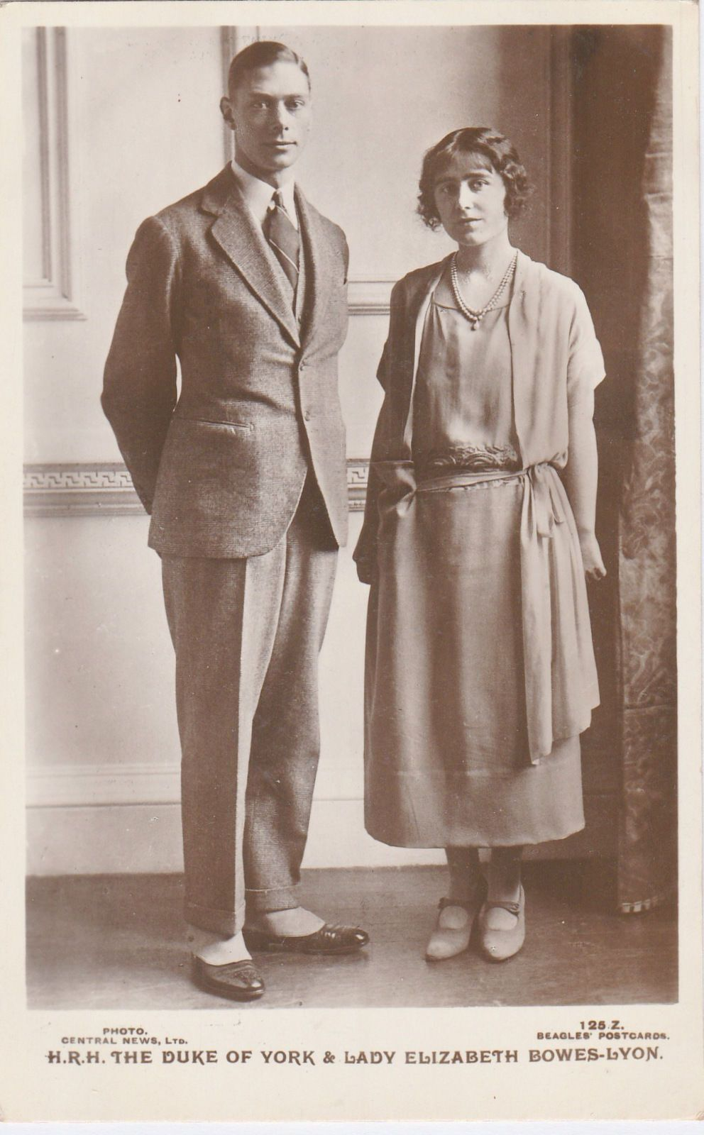 Details About History Of British Monarchy Rare Royalty Photo Duke Of York And Lady Elizabeth With Images Queen Mother Lady Elizabeth George Vi