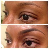 Before and after microblading which is a manual tattoo technique for semi perman… – Permanent makeup eyebrows