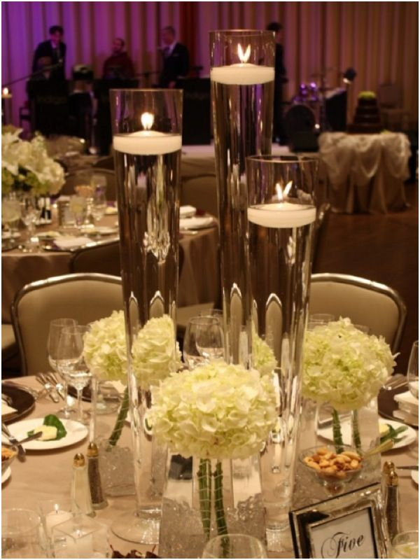 Tall candle wedding centerpieces pixshark