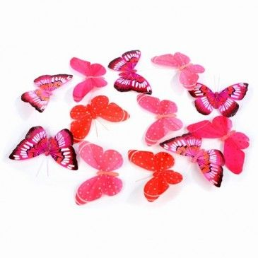 """Butterfly garland. Red and pink butterflies . 78"""" long"""