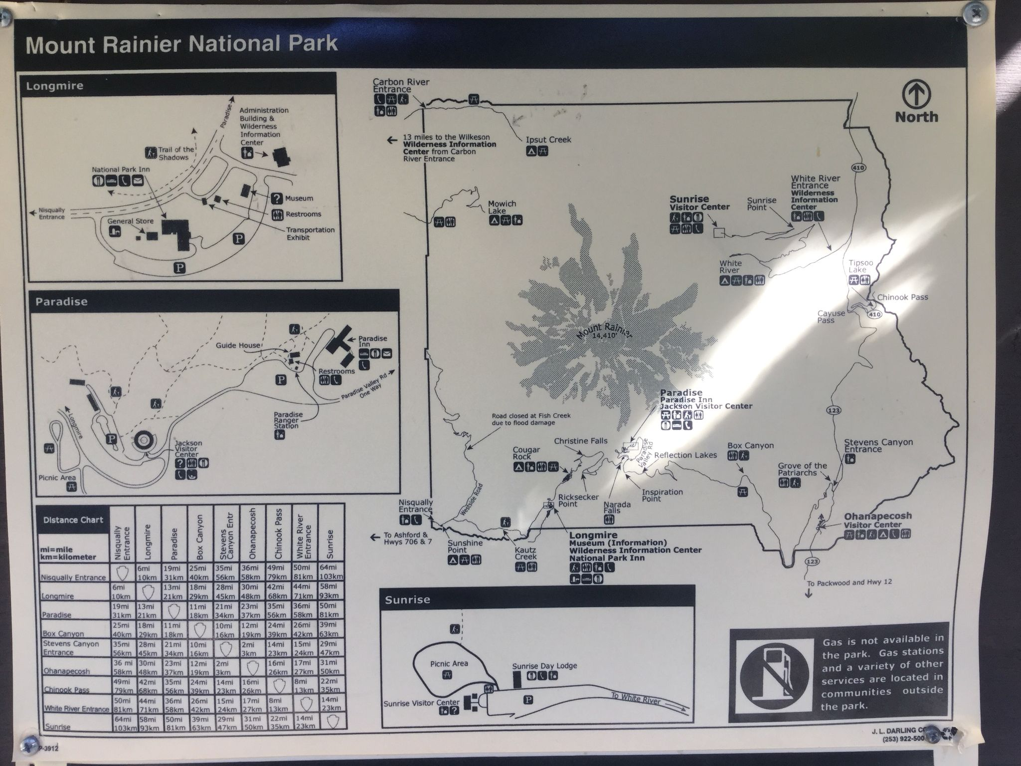 Mt.Rainier National Park map 1of2