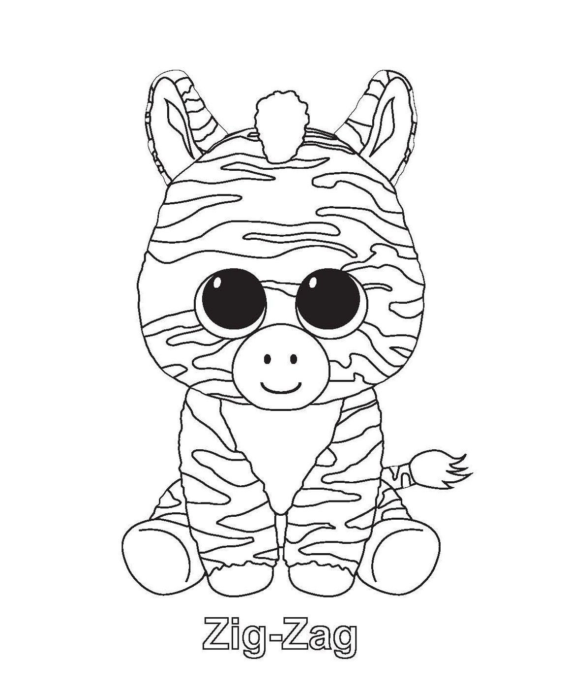 Zig Zag Beanie Boo Coloring Pages K5 Worksheets Ausmalbilder Ausmalbilder Tiere Beanie Boo Party