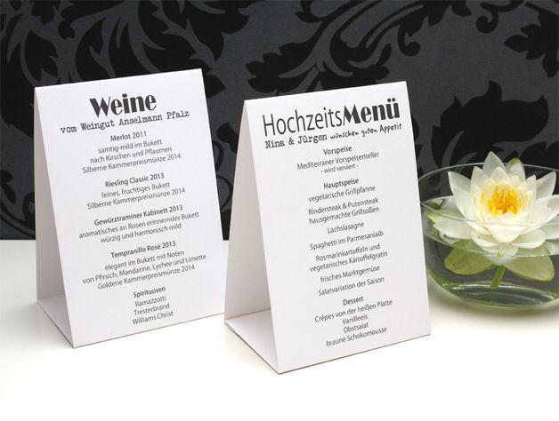 men karte hochzeit aufsteller kommunion wedding menu. Black Bedroom Furniture Sets. Home Design Ideas