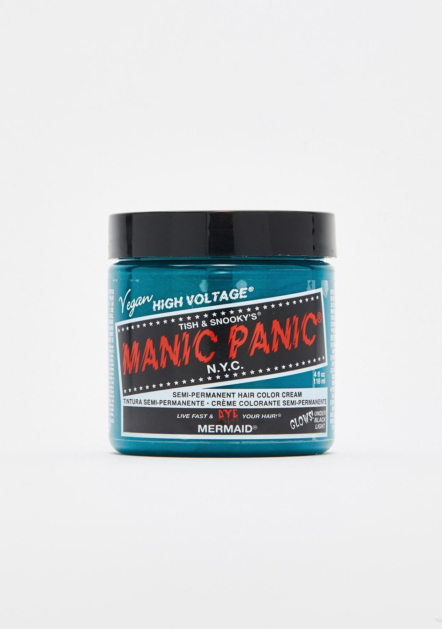Manic Panic Siren's Song High Voltage Hair Dye | Dolls Kill |Mermaid Manic Panic High Voltage