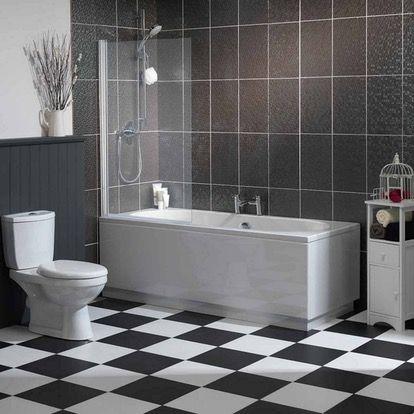 Clarity 5mm hinged single straight shower bath screen | Bath screens ...