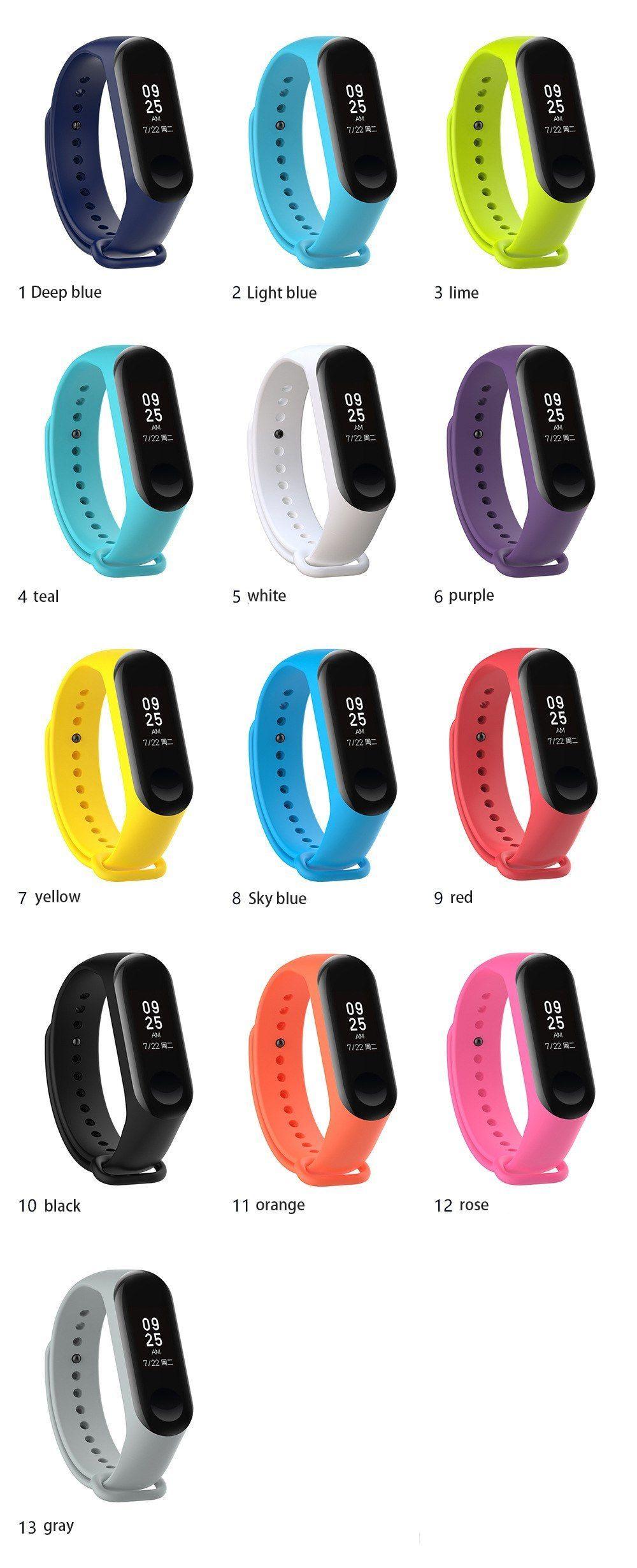 Bracelet For Xiaomi Mi Band 3 Sport Strap Watch Silicone Wrist Strap For Xiaomi Mi Band 3 Accessories Bracelet Miband 3 Strap Relogios Mulher Magra