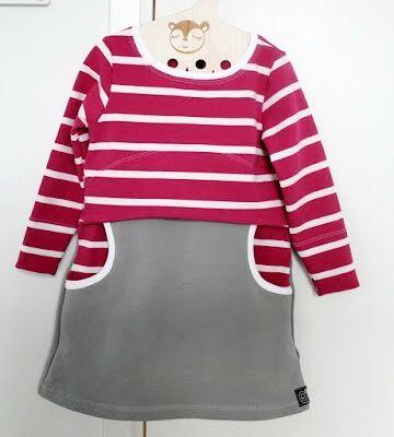 Kinderkleid aus Sweatshirtstoff - Freebook Gr. 86 - 140 | mäggi ...