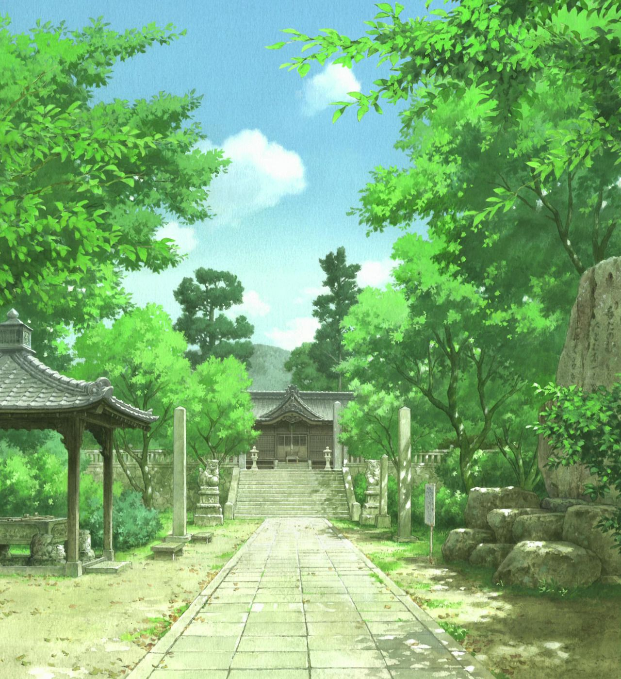 Animebackgrounds A Letter to Momo. Directed by Hiroyuki