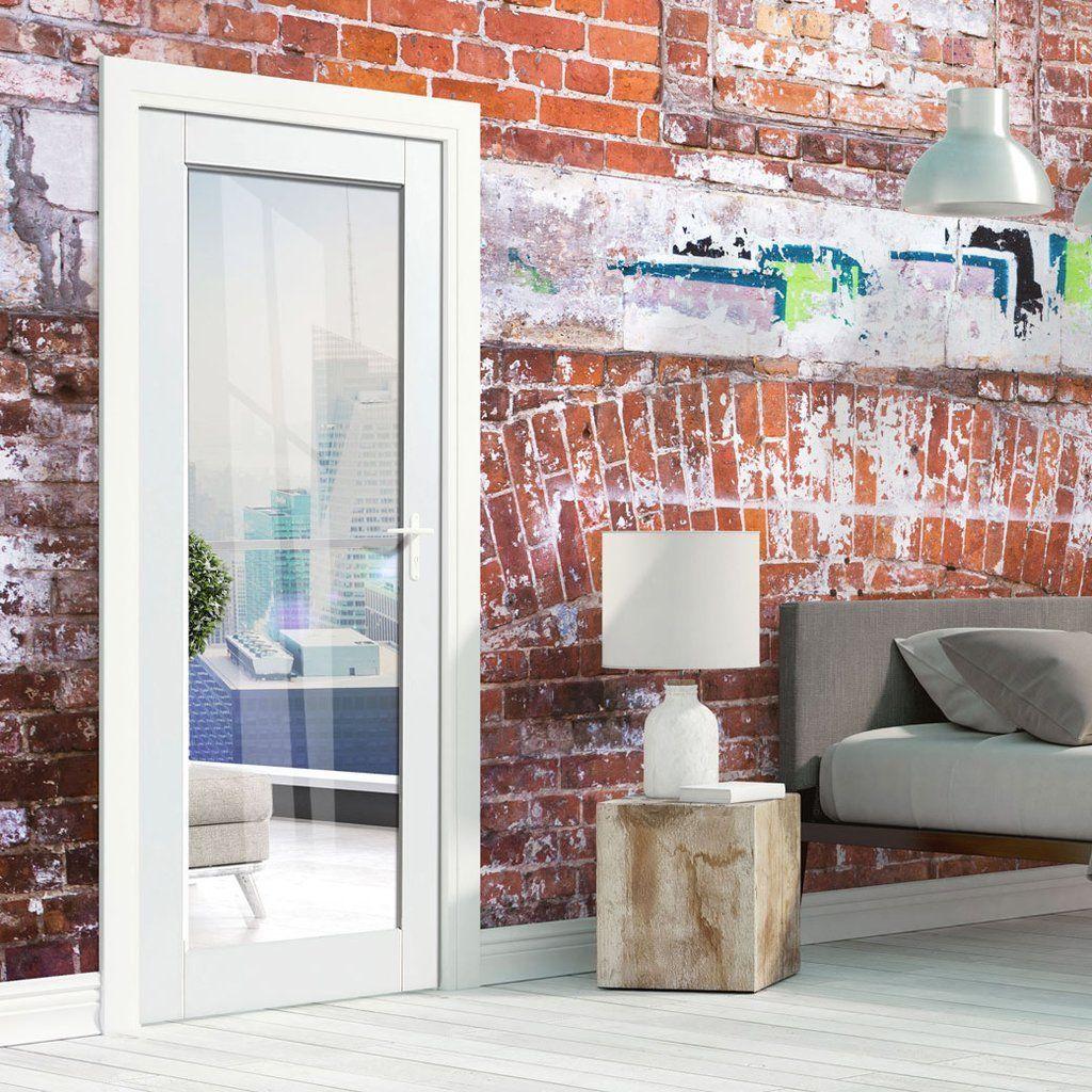 Jbk Tobago White Primed Door With Clear Safety Glass Is1 2 Hour Fire Rated Firedoor Glassdoor Glass Pocket Doors Fire Doors Grey Doors