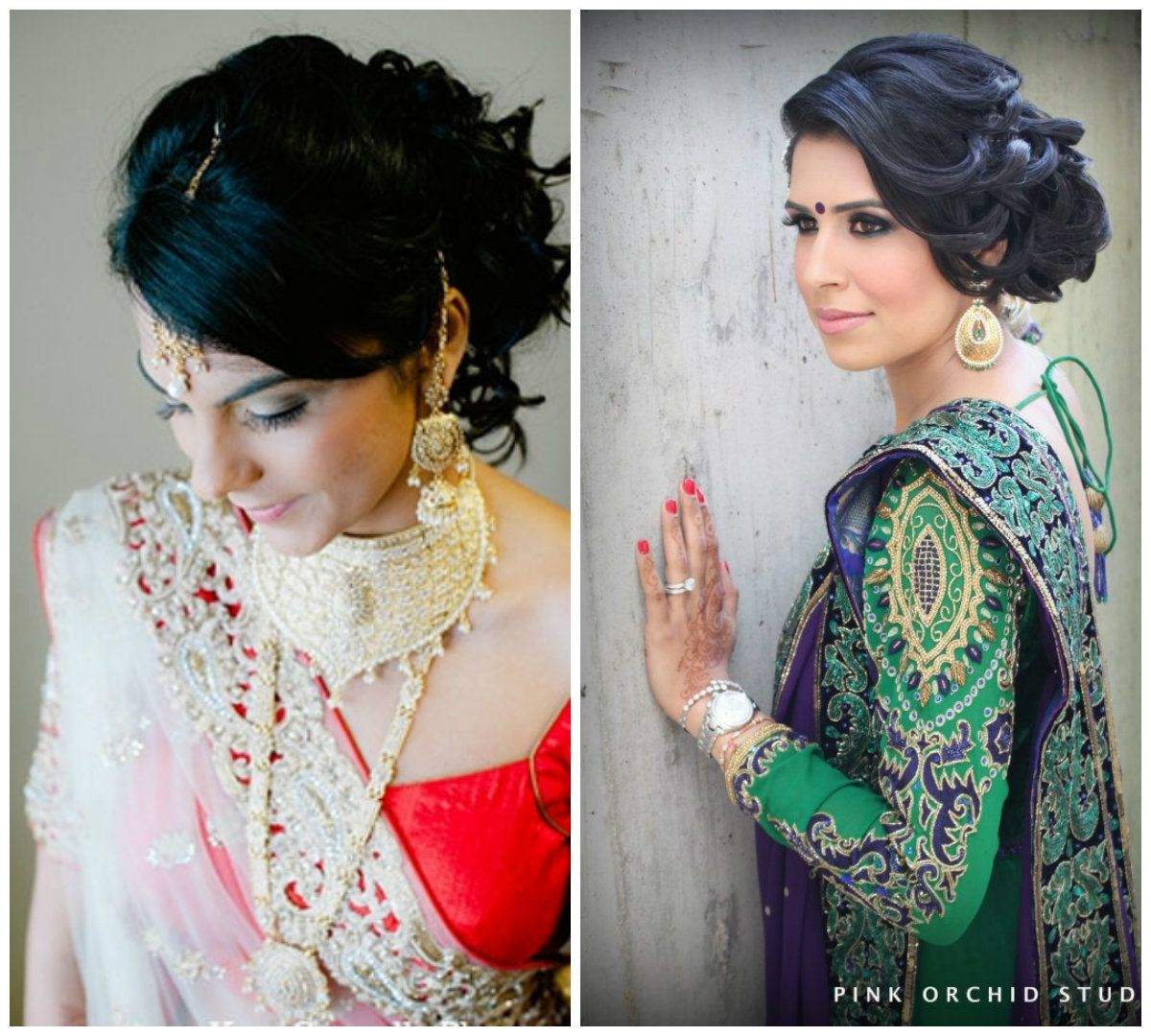 5 curly hairstyles for gujarati brides | indian wedding updos