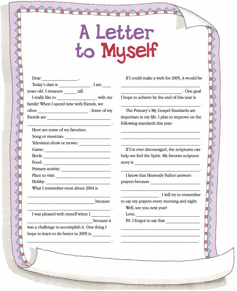 a letter to myself example lds other a letter to myself activity 23980