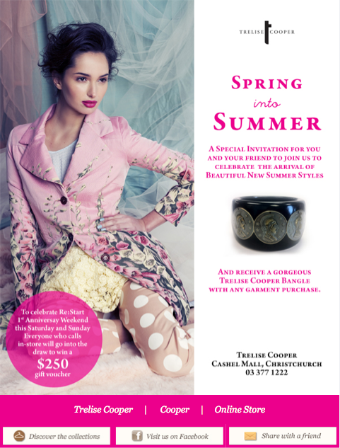 Trelise Cooper Graphic Design Work Christchurch Nz Design Working Celebrities Summer Fashion