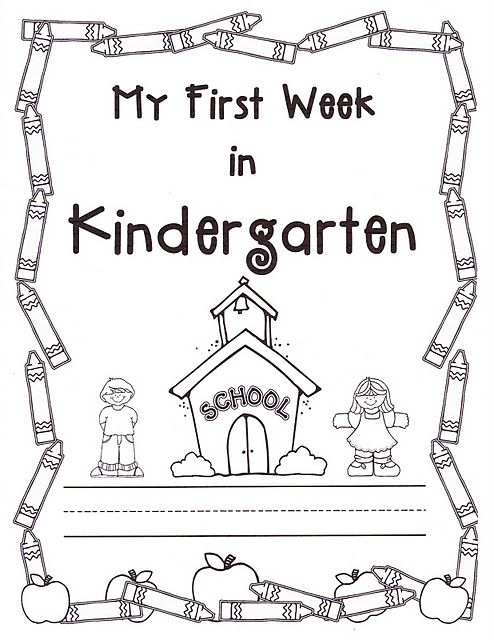 Activity book for first week of kindergarten.  Repeat at the end of the school year to show progress.