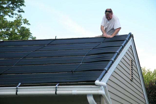 Steve Mellinger Tying Down A Panel Lancaster Pa Solar