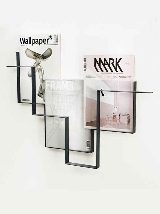 GUIDELINES magazine holder dark grey   - Frederik Roijé