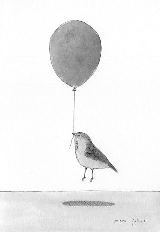 Balloons scare me, but seriously this is too cute to not pin. Artwork by Marc Johns