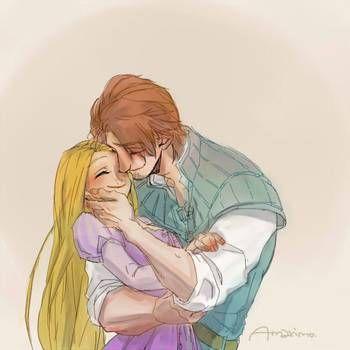 Eugene and Rapunzel by viria13 on DeviantArt