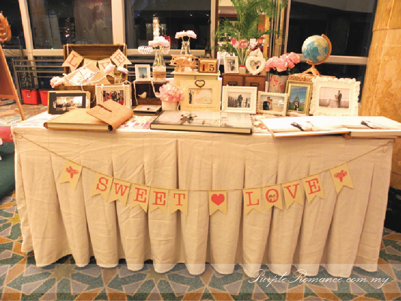wedding ideas malaysia photo album viewing table decoration wedding sweet 27988