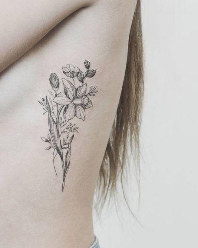 Paperwhite Narcissus Tattoo 1000 Birth Flower Tattoos Narcissus Flower Tattoos Tattoos