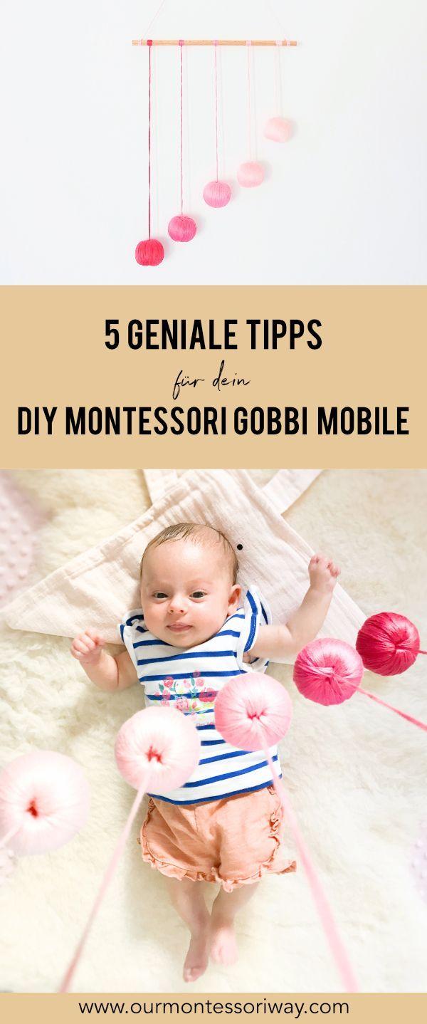 5 geniale Tipps für dein DIY Montessori Gobbi Mobile #montessoriselbstgemacht