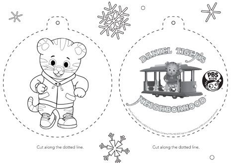 pbs kids holiday coloring pages printables - Daniel Tiger Coloring Pages