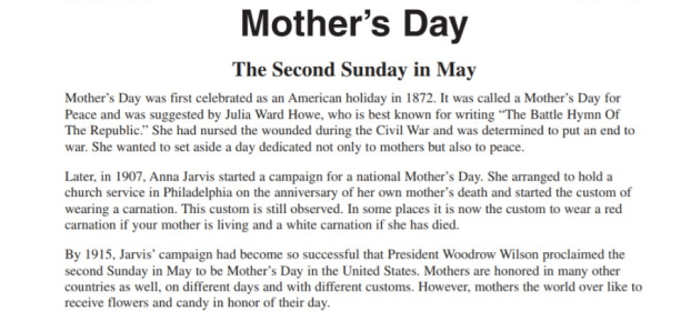 Long And Short Essay On Mother S Day In English Mothers Day Rush