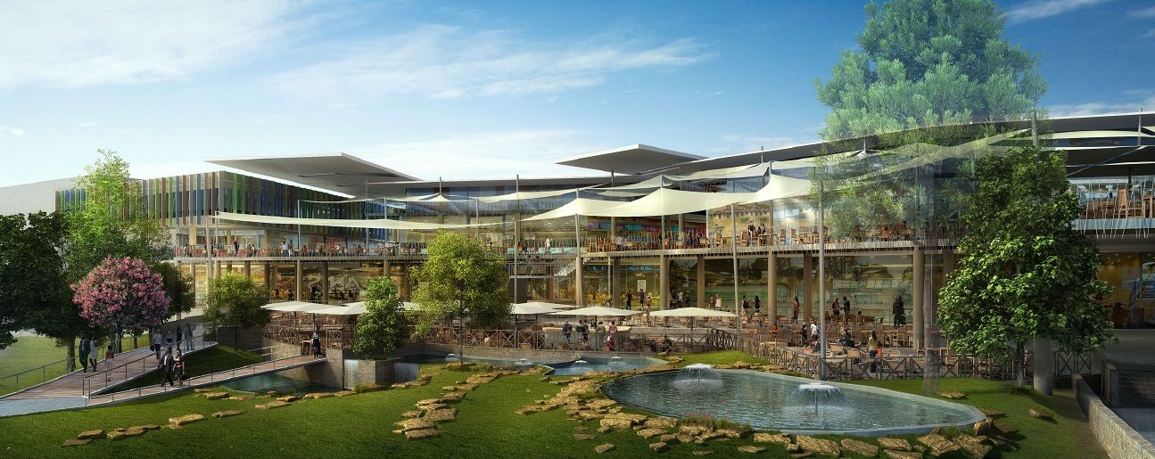 Garden City incorporates residential, leisure and office