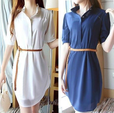 vestidos casuales con cinturon delgado - Buscar con Google  8a4c1b695ddf