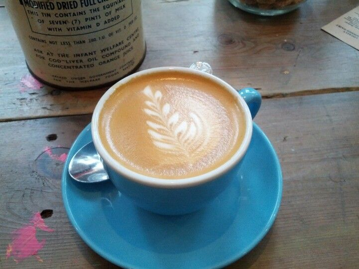 Flat white at the M1lk cafe in Balham