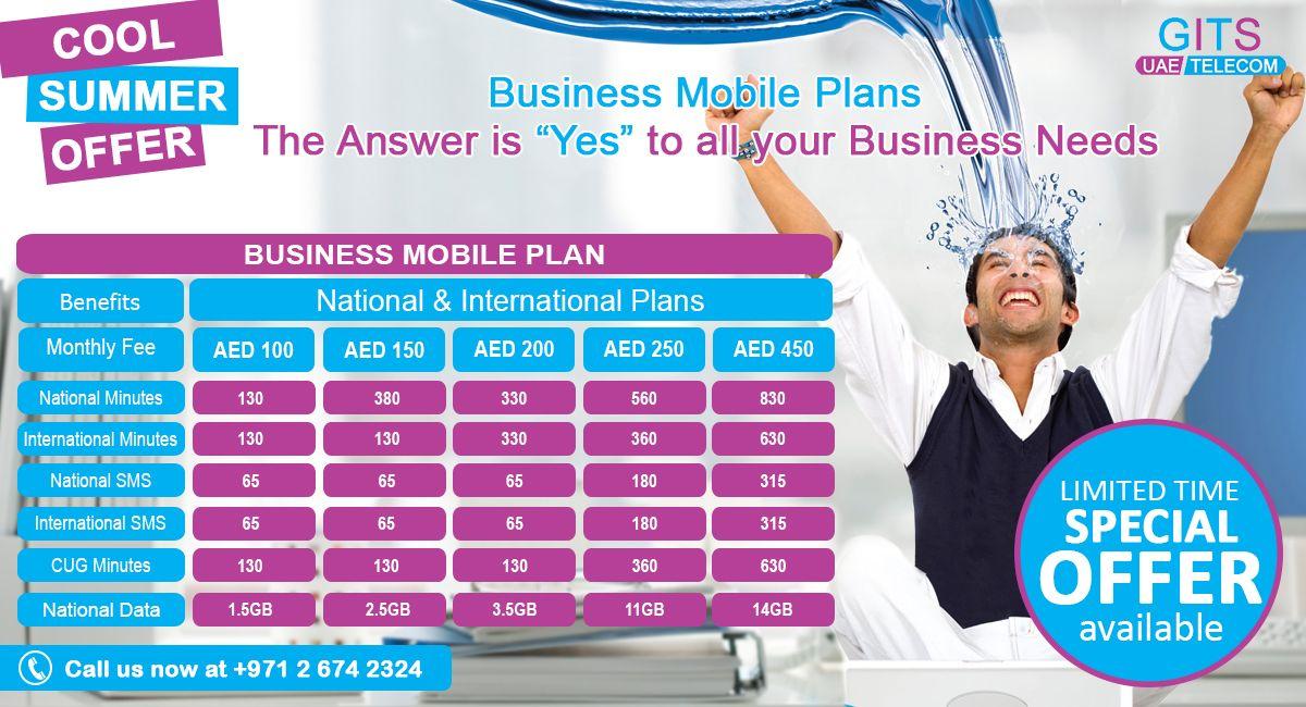 Summer offer!! Enjoy our NEW DU BUSINESS MOBILE PLAN