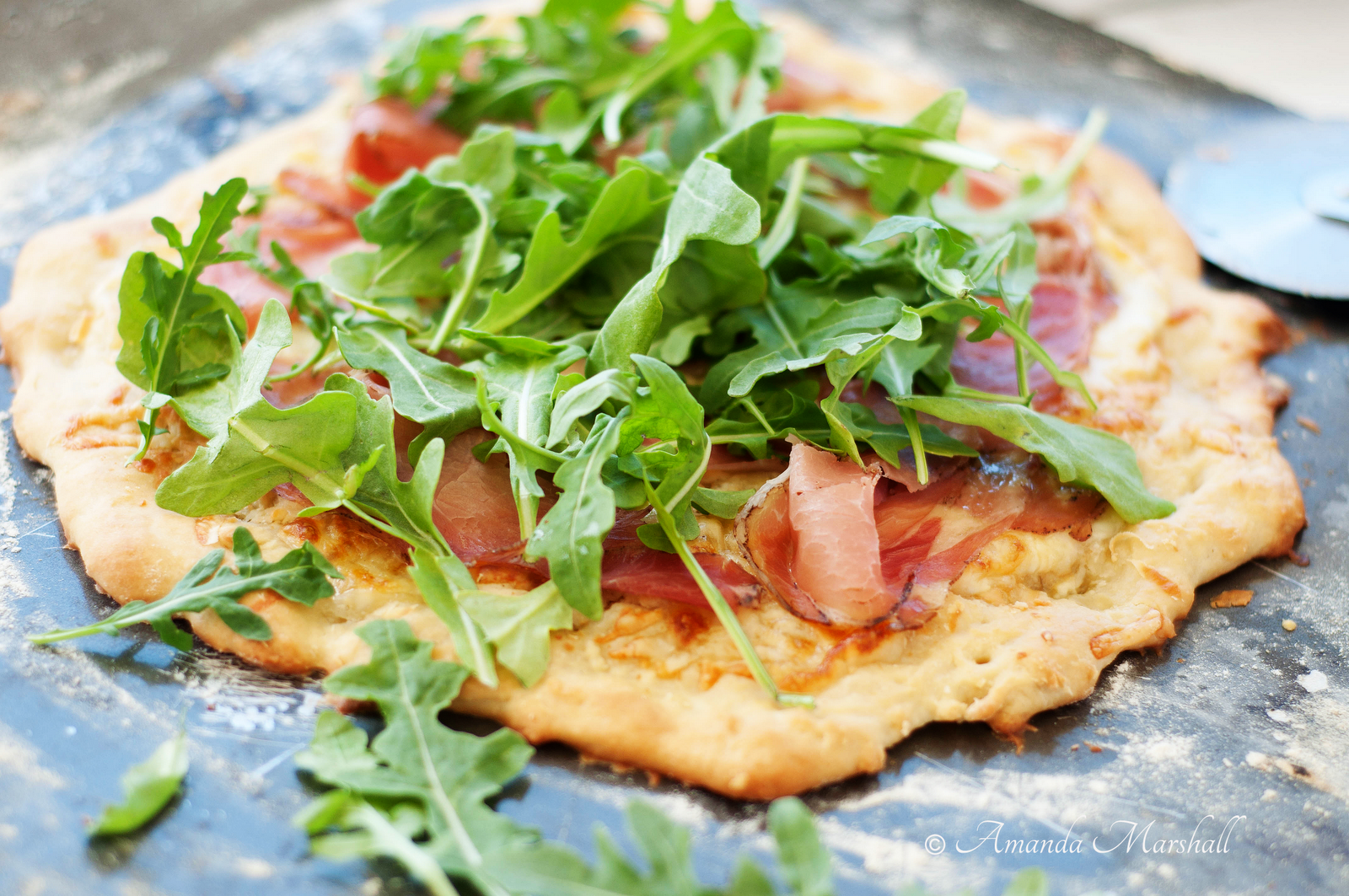 Marshalls Abroad: Summer Arugula & Prosciutto Pizza with Melone