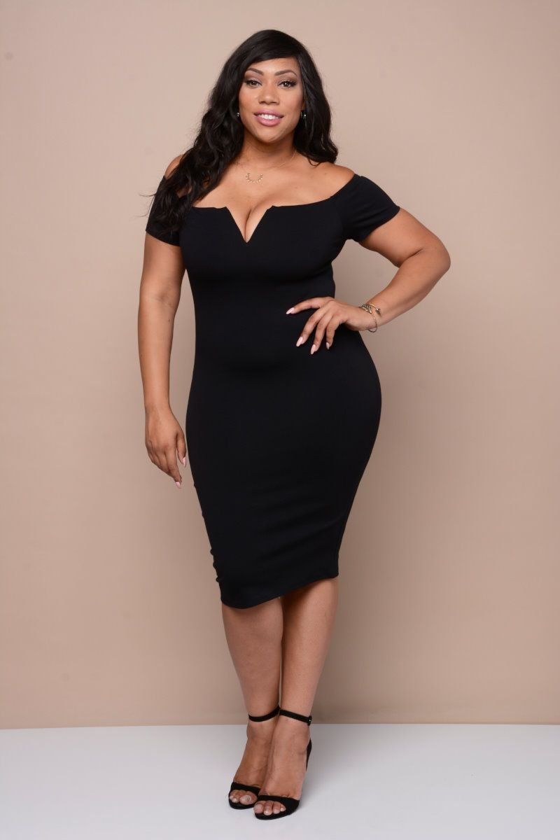 sexy off shoulder bodycon dress | plus size apparel | pinterest