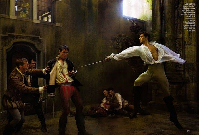 """""""Romeo and Juliet"""": Coco Rocha and Roberto Bolle by Annie Leibovitz for Vogue"""