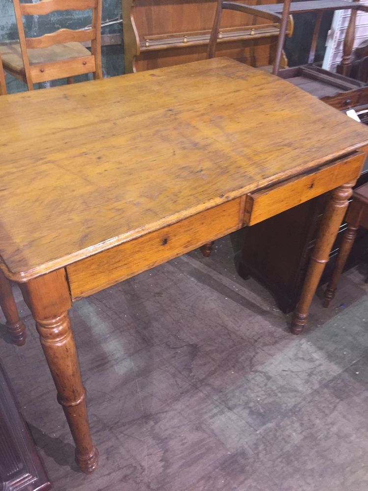 Antique 4 Foot Tall Chestnut Railroad Standing Desk Architect Drafting  Table #unknown - Antique 4 Foot Tall Chestnut Railroad Standing Desk Architect