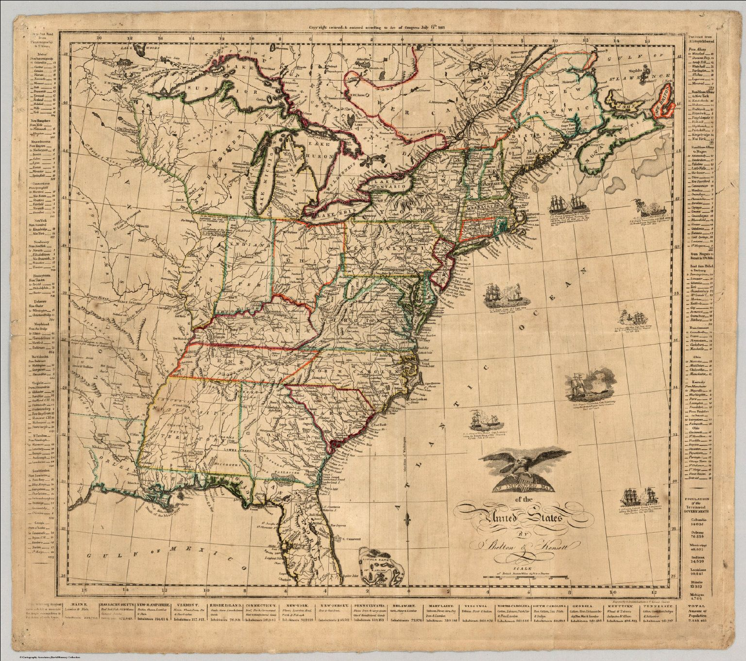 Map Of United States War Of