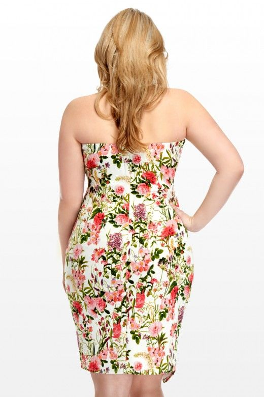 Plus Size Wildflower Floral Wrap Dress | Fashion To Figure