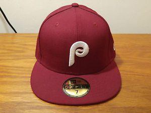 8c4bf31f5 New Era 59Fifty Philadelphia Phillies Retro Throwback Hat Cap 7 Fitted  Baseball