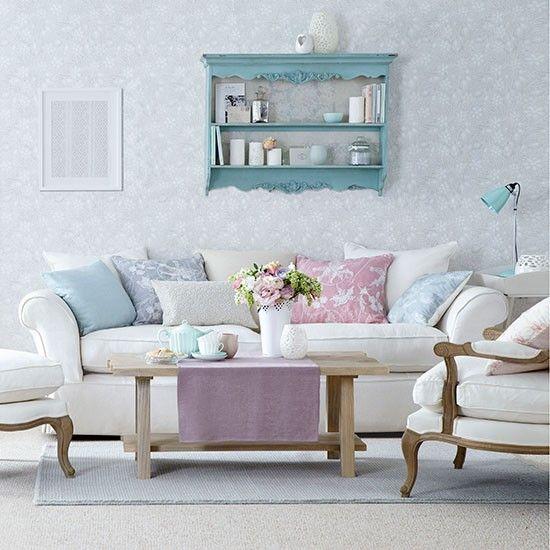 Pastellfarbenen Wohnzimmer Wohnen  Pinterest Pastellfarben - wohnzimmer ideen shabby chic