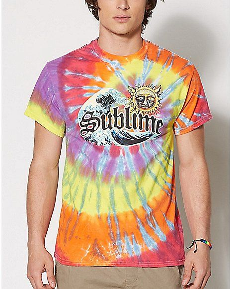 cab4f4e9f Tie Dye Sublime T Shirt - Spencer's | Possible Bday Gifts for Leo in ...
