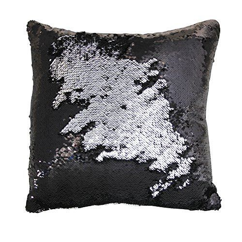 Mermaid Pillow Case Play Tailor Magic Reversible Sequin Pillow Cover Throw Cushion Case 40x40cm Mermaid Pillow Sequin Pillow Pillows