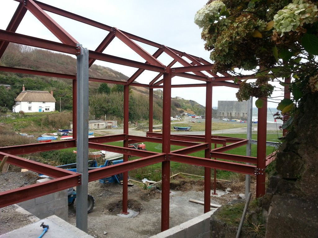 Steel House Extension Xternal View Steel Building Extention Steel House Small House Construction Steel Frame House