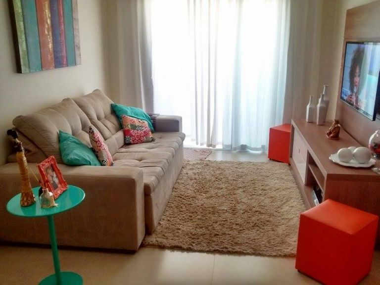Decora o de sala pequena e moderna tend ncias 2019 for Sillones para apartamentos pequenos