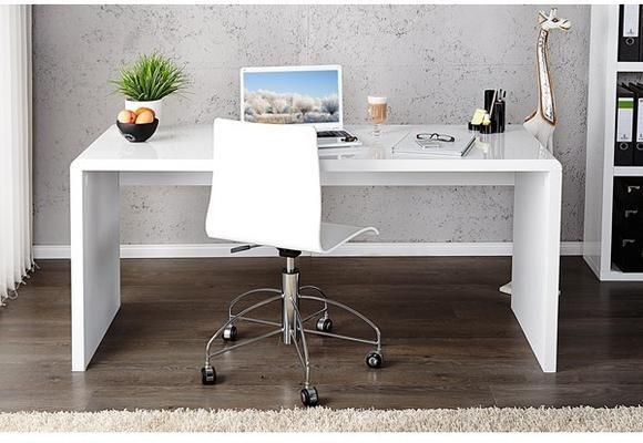 Salvador White High Gloss 120 Cm Office Desk White Desk Office Corner Desk Office Home Office Furniture